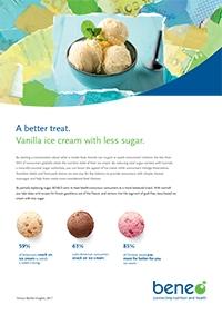Paper Sugar Reduced Ice Cream with Isomalt