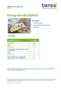 Receta de Biscotti Energéticos con Palatinose™ y Orafti® inulina