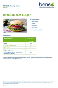 Recipe: Low-fat veggie burgers with wheat protein and clean label rice starch