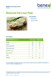 BENEO recipe on reduced fat liver paté