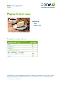 BENEO recipe - Vegan cheese cake.