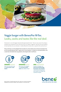 Veggie burger with BENEO Pro W-Tex